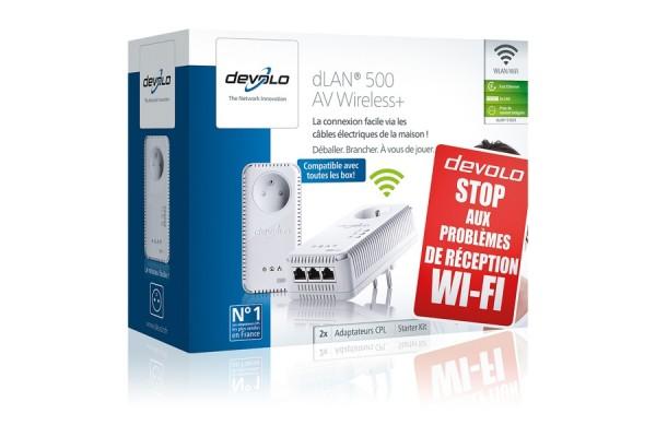 devolo dlan 500 av wireless starter kit 031829. Black Bedroom Furniture Sets. Home Design Ideas