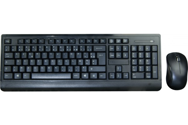 pack clavier souris slim sans fil 2 4 ghz noir 225203. Black Bedroom Furniture Sets. Home Design Ideas