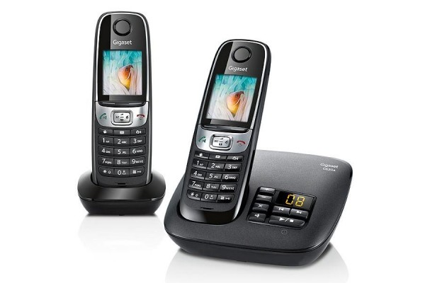 gigaset c620a t l phone sans fil dect r pondeur duo noir 280628. Black Bedroom Furniture Sets. Home Design Ideas