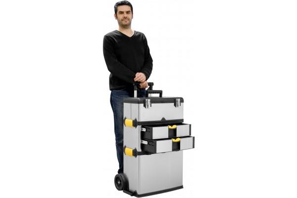 caisse outils aluminium sur roulettes 818121. Black Bedroom Furniture Sets. Home Design Ideas
